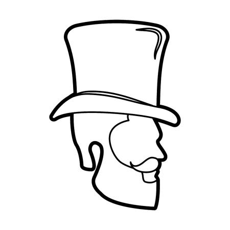 man hipster style model vector illustration design