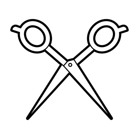 理髪店のシザー分離アイコン ベクトル イラスト デザイン 写真素材 - 81012255