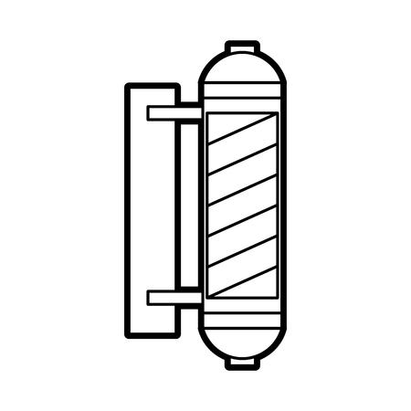 barbershop label with stripes vector illustration design Иллюстрация