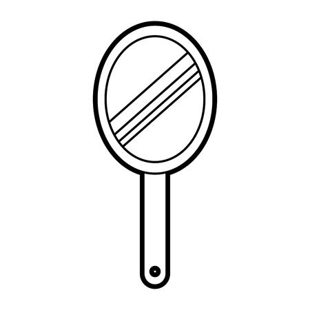Friseur Spiegel isoliert Symbol Vektor-Illustration Design Standard-Bild - 81012259