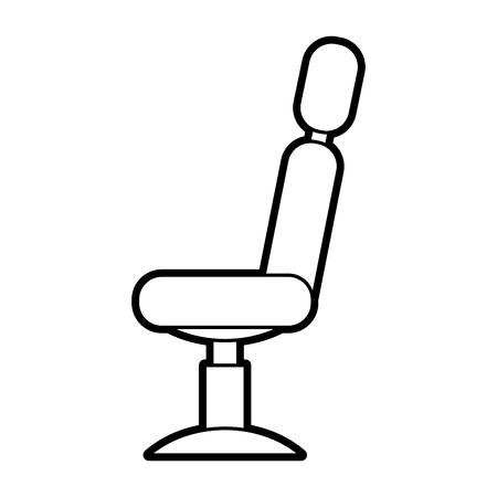 理髪店の椅子分離アイコン ベクトル イラスト デザイン