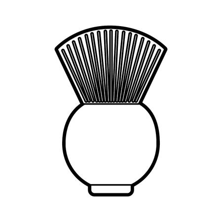 理髪店のブラシ アイコン ベクトル イラスト デザインを分離しました。