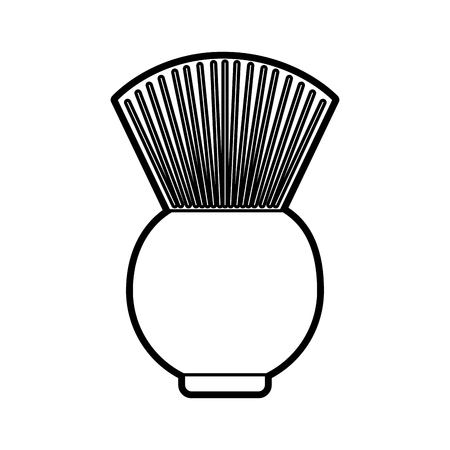 barbershop brush isolated icon vector illustration design