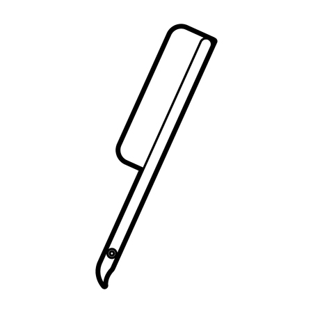 理髪店くし分離アイコン ベクトル イラスト デザイン 写真素材 - 81012265