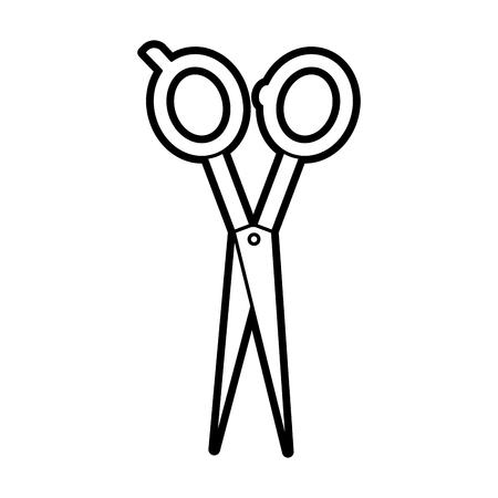 barbershop scissor isolated icon vector illustration design