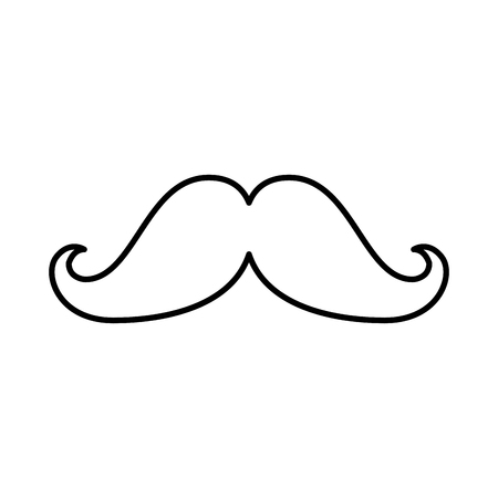 mustache hipster style icon vector illustration design