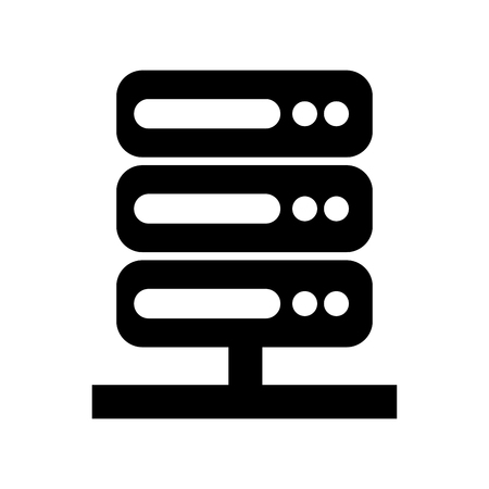 icono de centro de datos de servidor diseño de ilustración vectorial