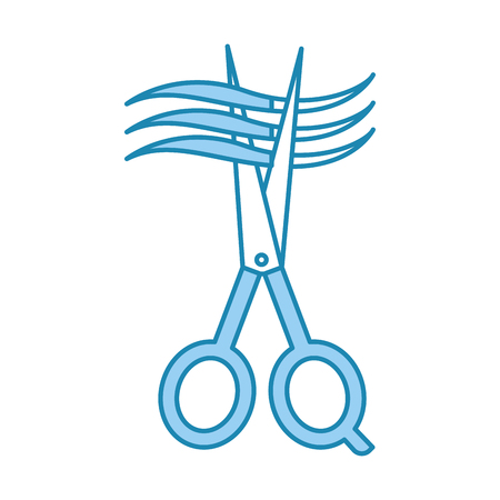 髪ベクトル イラスト デザインと理髪店のシザー 写真素材 - 81012360
