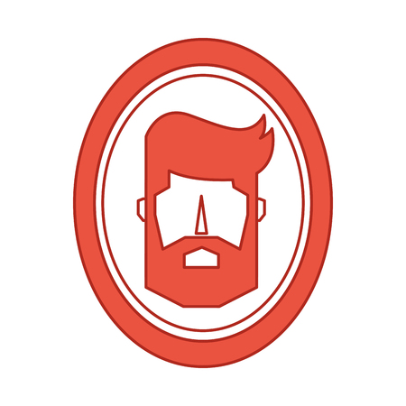 barber mirror with man reflection vector illustration design