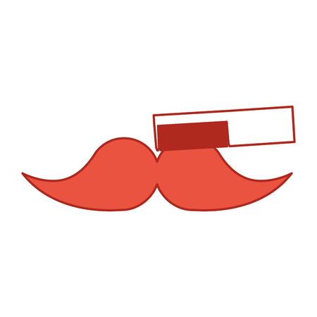 barbershop comb with mustache vector illustration design