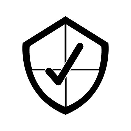 security shield with check icon vector illustration design Ilustrace