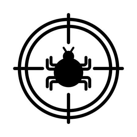 target with bug infection virus icon vector illustration design
