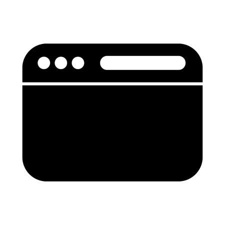 template web isolated icon vector illustration design Illustration