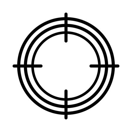 target success isolated icon vector illustration design Illustration