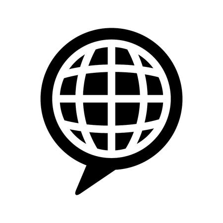 惑星ベクター イラスト デザインにスピーチ泡メッセージ  イラスト・ベクター素材
