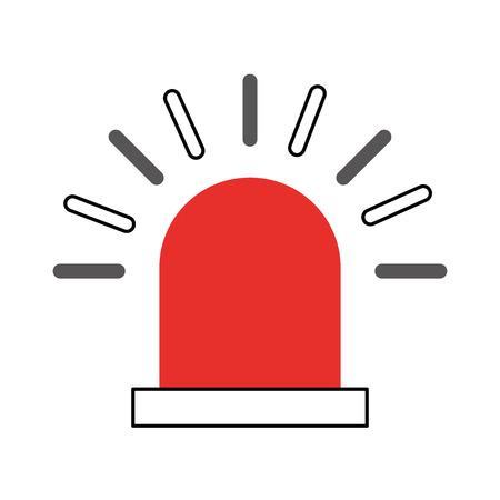 siren alert isolated icon vector illustration design