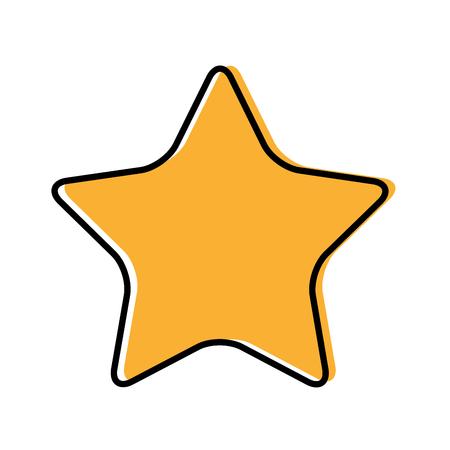 favourite: star symbol isolated icon vector illustration design