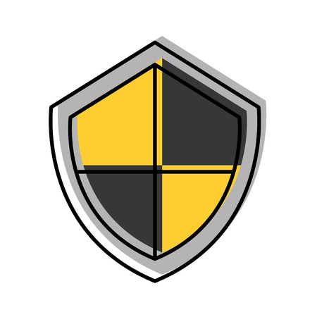 security shield isolated icon vector illustration design Фото со стока - 81012076