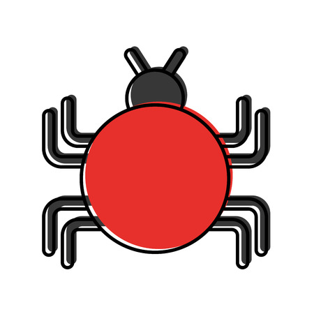 bug infection virus icon vector illustration design 向量圖像
