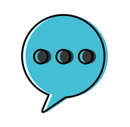 speech bubble message isolated icon vector illustration design Illustration