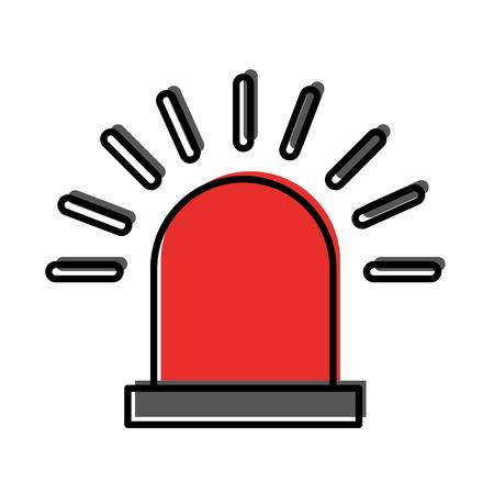 サイレン警告分離アイコン ベクトル イラスト デザイン