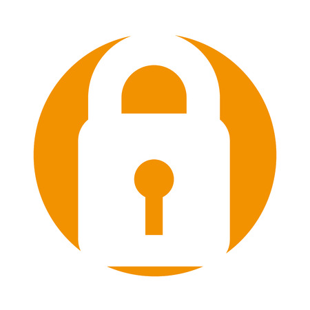 private access: safe secure padlock icon vector illustration design