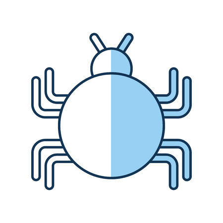 malware: bug infection virus icon vector illustration design Illustration