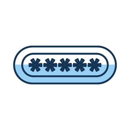 password login isolated icon vector illustration design