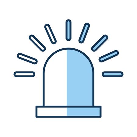 sirene alarm geïsoleerd icon vector illustratie ontwerp Stock Illustratie