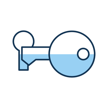 key security isolated icon vector illustration design
