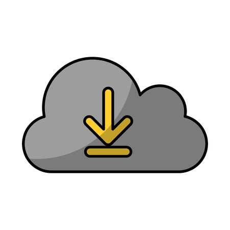 cloud computing with arrows vector illustration design Illustration