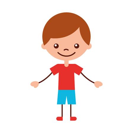 cute boy character icon vector illustration design