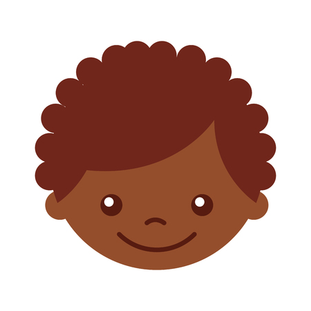 cute african boy character icon vector illustration design