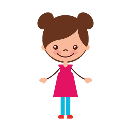 baby facial expressions: cute girl character icon vector illustration design