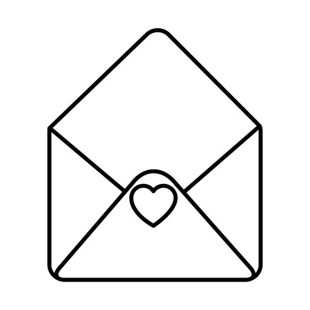 Envelope icon over white background vector illustration.