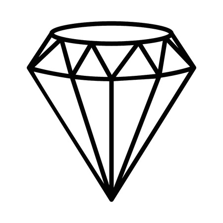Diamond icon over white background vector illustration. Ilustração