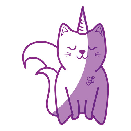 cute cat icon over white background vector illustration Imagens - 81066233