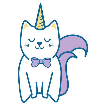 Cute kitty icon over white background colorful design vector illustration