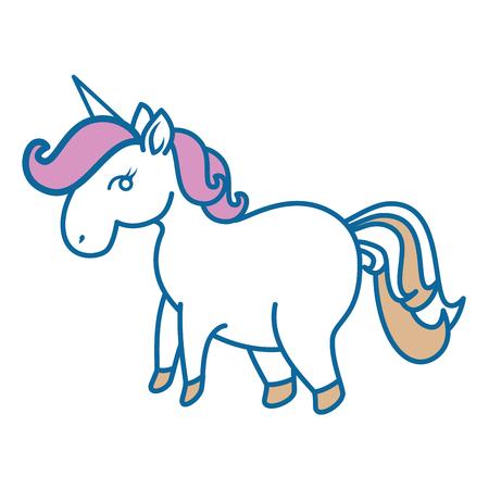 Unicorn icon over white background colorful design vector illustration