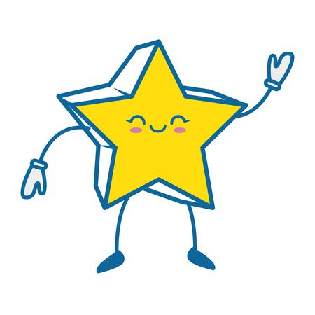 Star icon over white background colorful design vector illustration