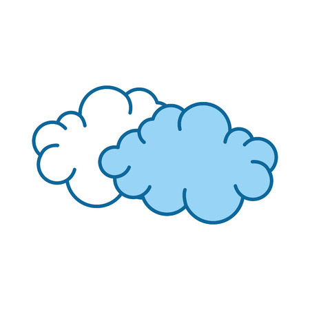 Clouds icon over white background colorful design vector illustration Illustration