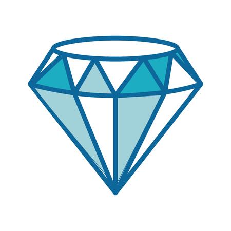 diamond icon over white background colorful design vector illustration Illustration