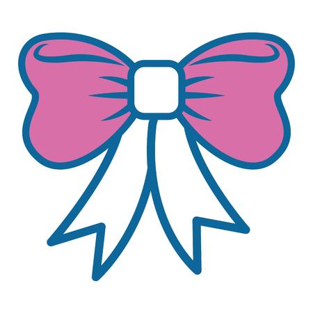 decorative bow icon over white background colorful design vector illustration Stock Vector - 81065875