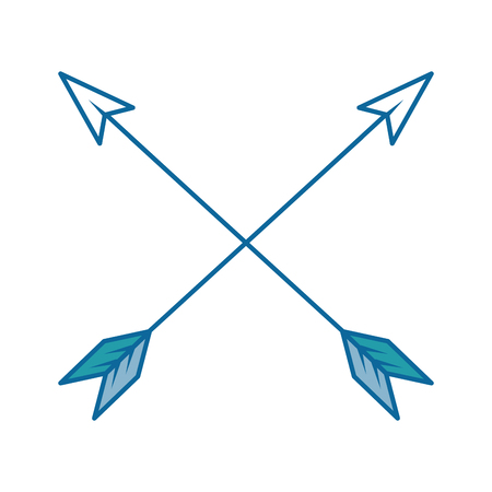 arrows icon over white background colorful design vector illustration