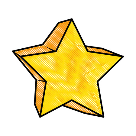 star icon over white background colorful design vector illustration