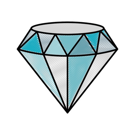 diamond icon over white background colorful design vector illustration Ilustração
