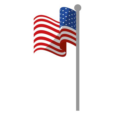 united states of america flag icon over white background colorful design  vector illustration Illustration
