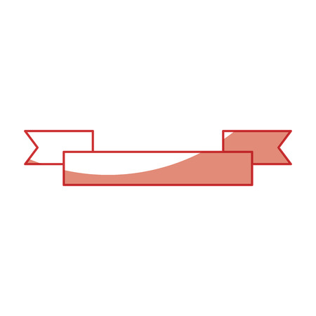 decorative ribbon icon over white background vector illustration