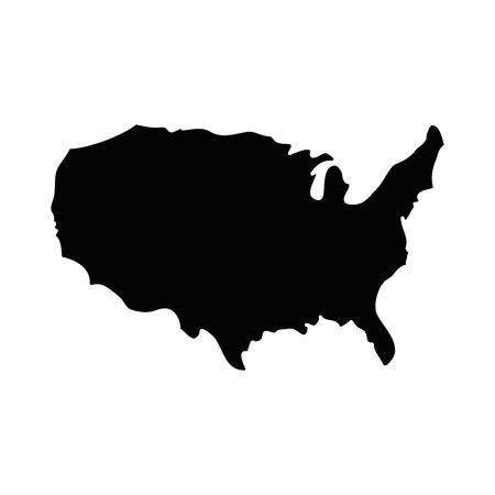 흰색 배경 벡터 일러스트 레이 션을 통해 미국 국가지도 아이콘