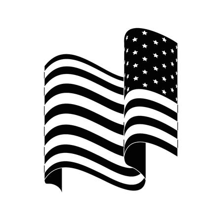 united states of america flag icon over white background vector illustration Ilustrace